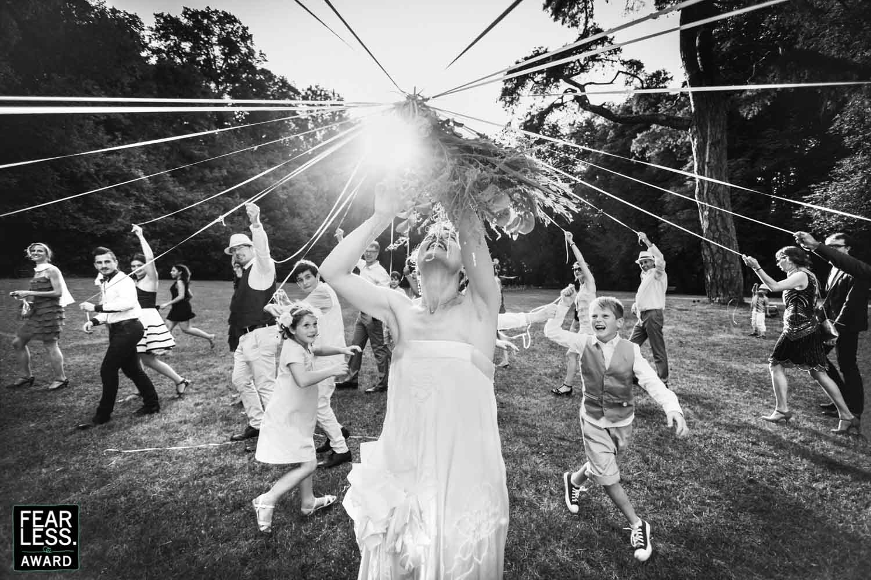 lancé de bouquet de la mariée Concours Photographie de mariage