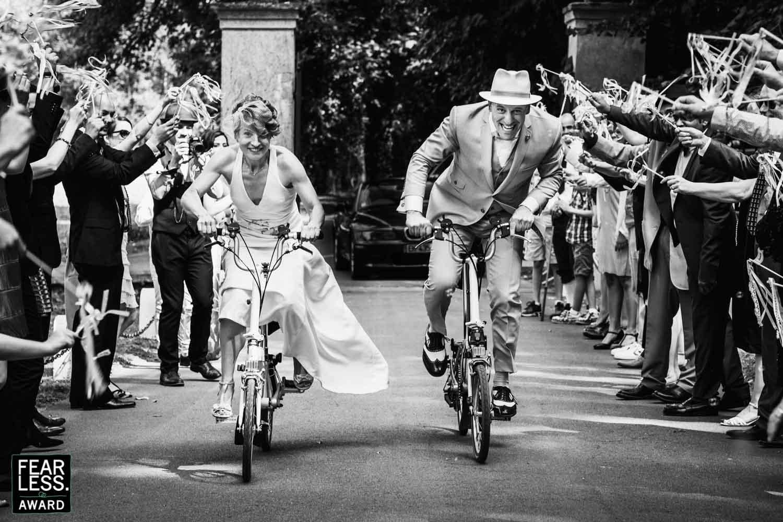 course à vélo des mariés