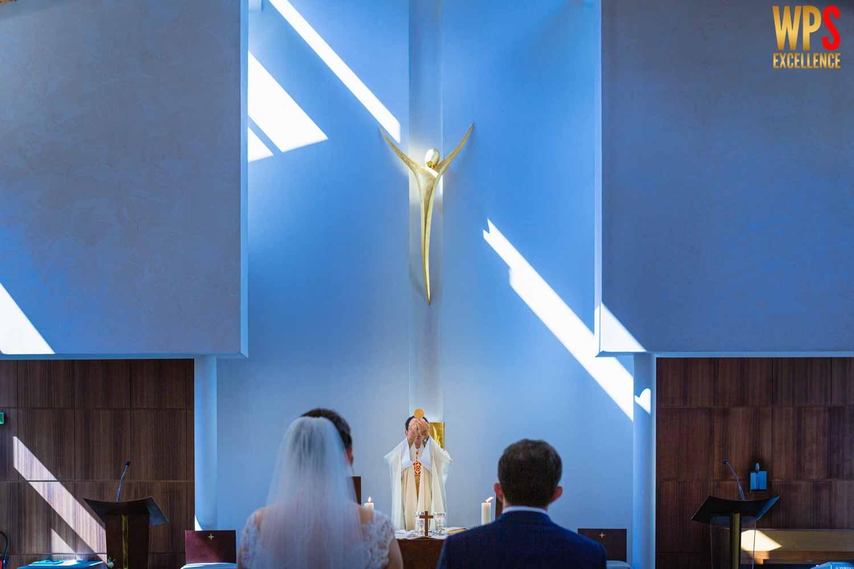 communion à la cérémonie de mariage